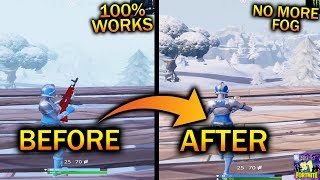 How To Remove The FOG in Fortnite Ice Storm | 72hrs Freestyle | Fortnite Ice Storm Event