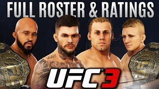 UFC 3 Full Roster and Stats Breakdown - Flyweight and Bantamweight! EA Sports UFC 3