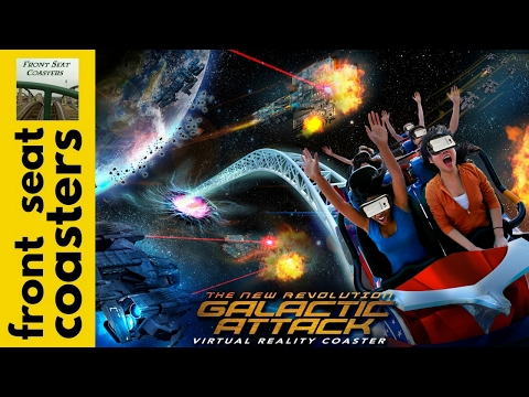 "Six Flags Magic Mountain to Debut ""The New Revolution Galactic Attack"" VR Roller Coaster Samsung"