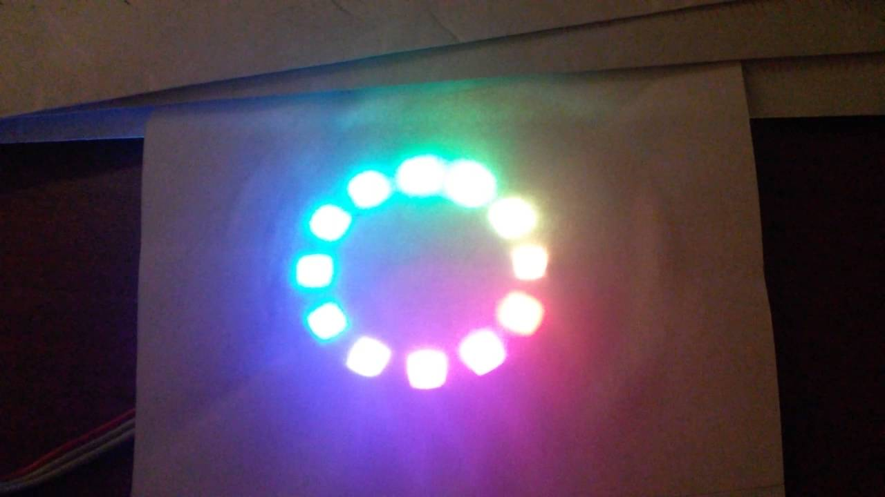 NEOPIXEL WS2812 12bit LED ring, rainbow effect