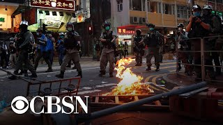 Protesters arrested in Hong Kong as Chinese national security law takes effect