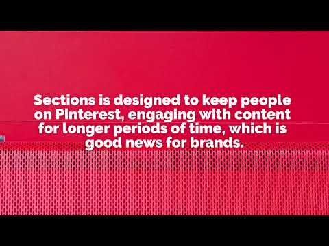 Sections is coming to Pinterest
