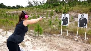 WARRIOR STRONG - Laura shooting her new Glock 19
