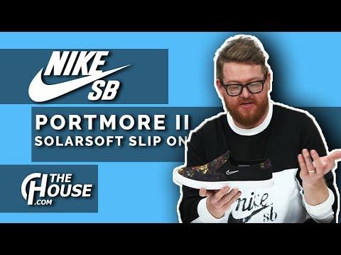 2018 Nike SB Portmore 2 Solarsoft Slip On Skate Shoes
