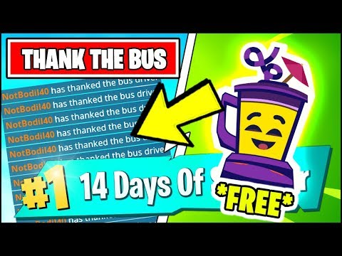 THANK THE BUS DRIVER AND FINISH TOP 20 *FREE RIGHT NOW* (Fortnite 14 Days Of Summer REWARDS)
