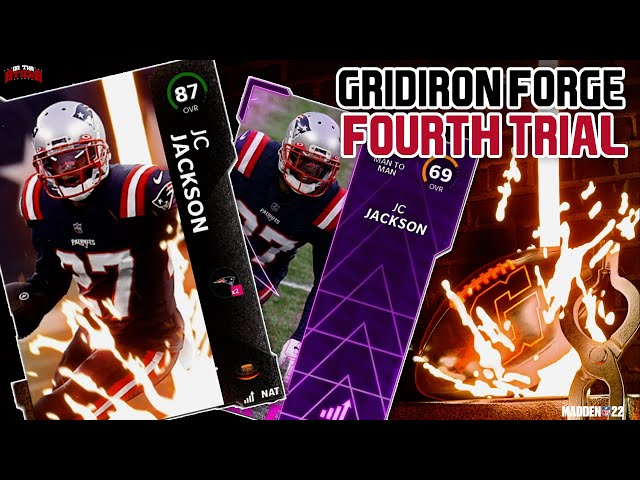 Madden 22 Ultimate Team Gridiron Forge Fourth Trial Solos (Free 87 OVR JC Jackson & Power Up Card)