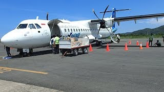 Garuda Indonesia Labuan Bajo Komodo Airport to Bali ATR72-600