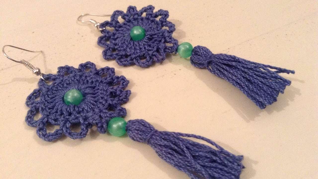 How To Make Beautiful Tassel Crochet Earrings - DIY Crafts Tutorial ...