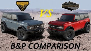 2021 Ford Bronco Badlands vs Wildtrak
