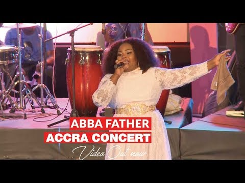 Ceccy Twum performs live at the Abba Father Concert in Accra.