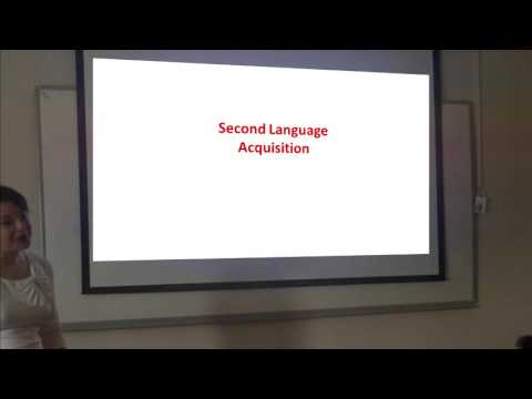 Second Language Acquisition 1