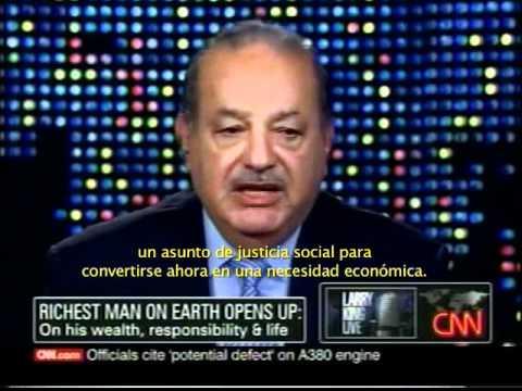 Larry King entrevistó al Ing. Carlos Slim en su programa de CNN, Larry King Live.