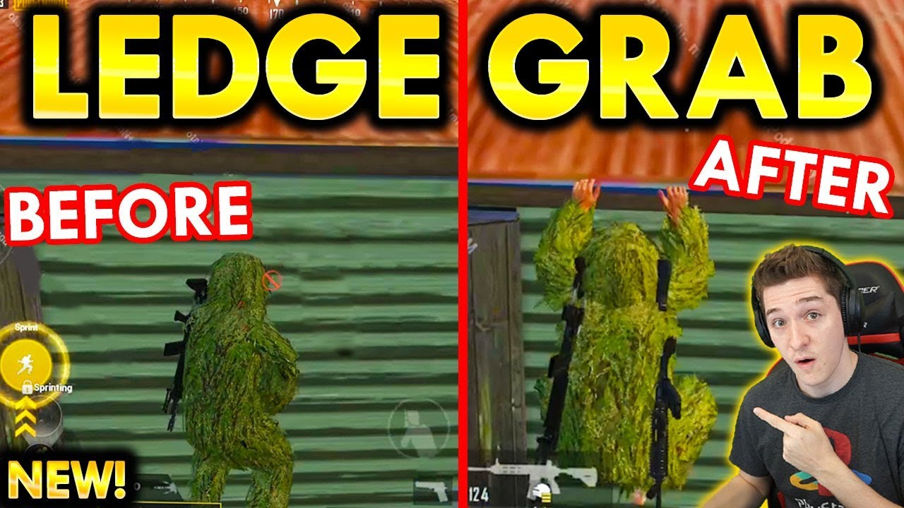 NEW LEDGE GRAB IS INSANE (PUBG MOBILE 0.15.0 UPDATE)