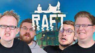 Vier Affen auf nem Floß 🎮 Raft Gameplay