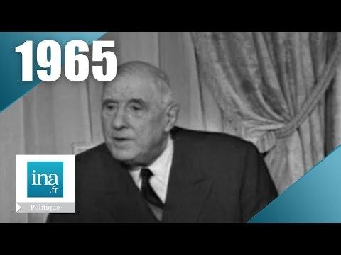Charles de Gaulle - Campagne présidentielle 1965 (2ème tour) | Archive INA