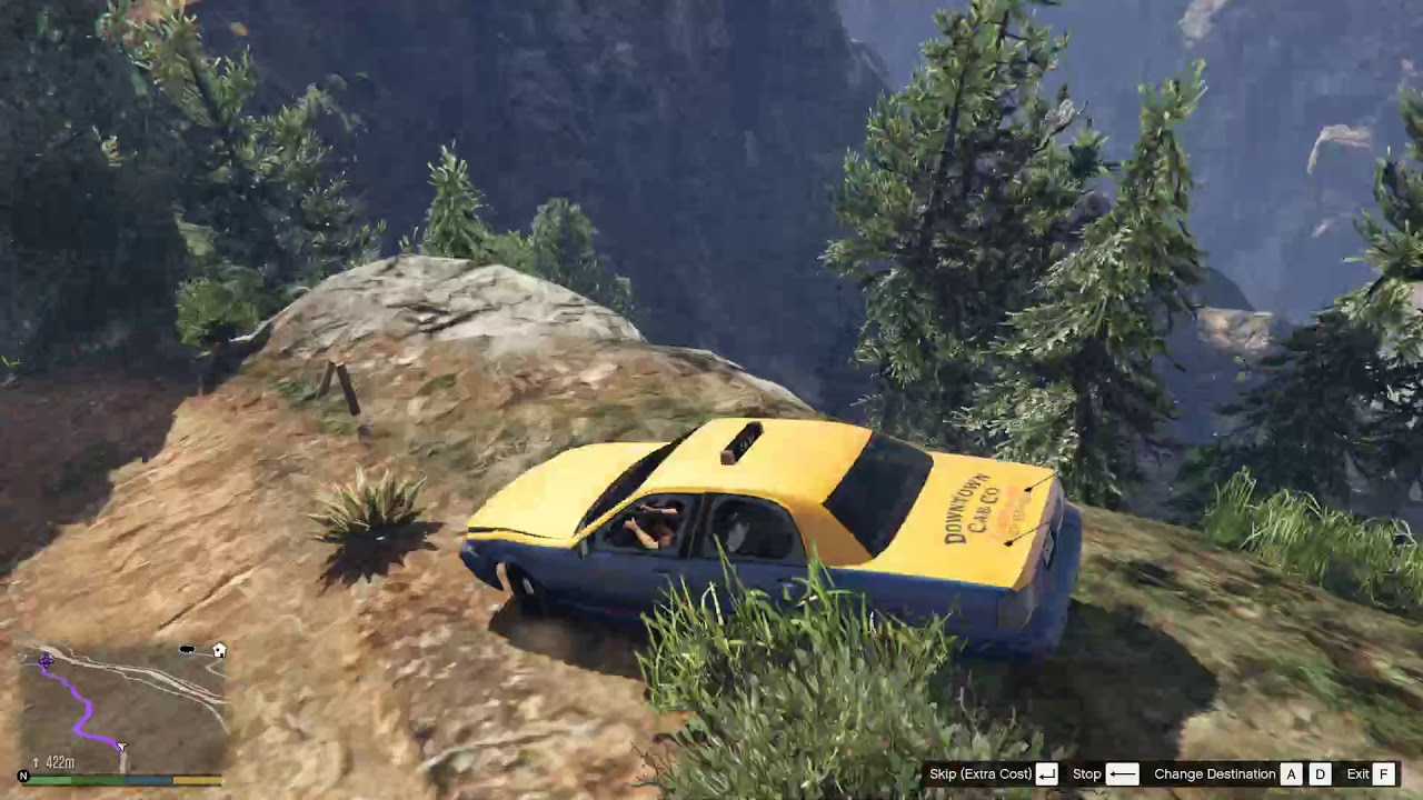 GTA5 – 2019-08-16th – Franklin – Taxi Adventures – Suicide Pass – Reckless Driver Goes Over