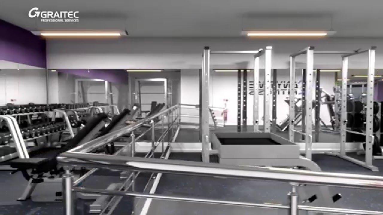 Anytime Fitness Ruislip - Gym Interior Visualisation