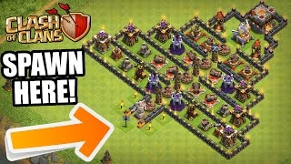 "Clash Of Clans - ""THE PYRAMID"" - INSANE TROLL BASE! - Trolling My Clan 2016!"