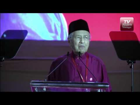 Tun Mahathir berucap merasmikan Parti Pribumi Bersatu