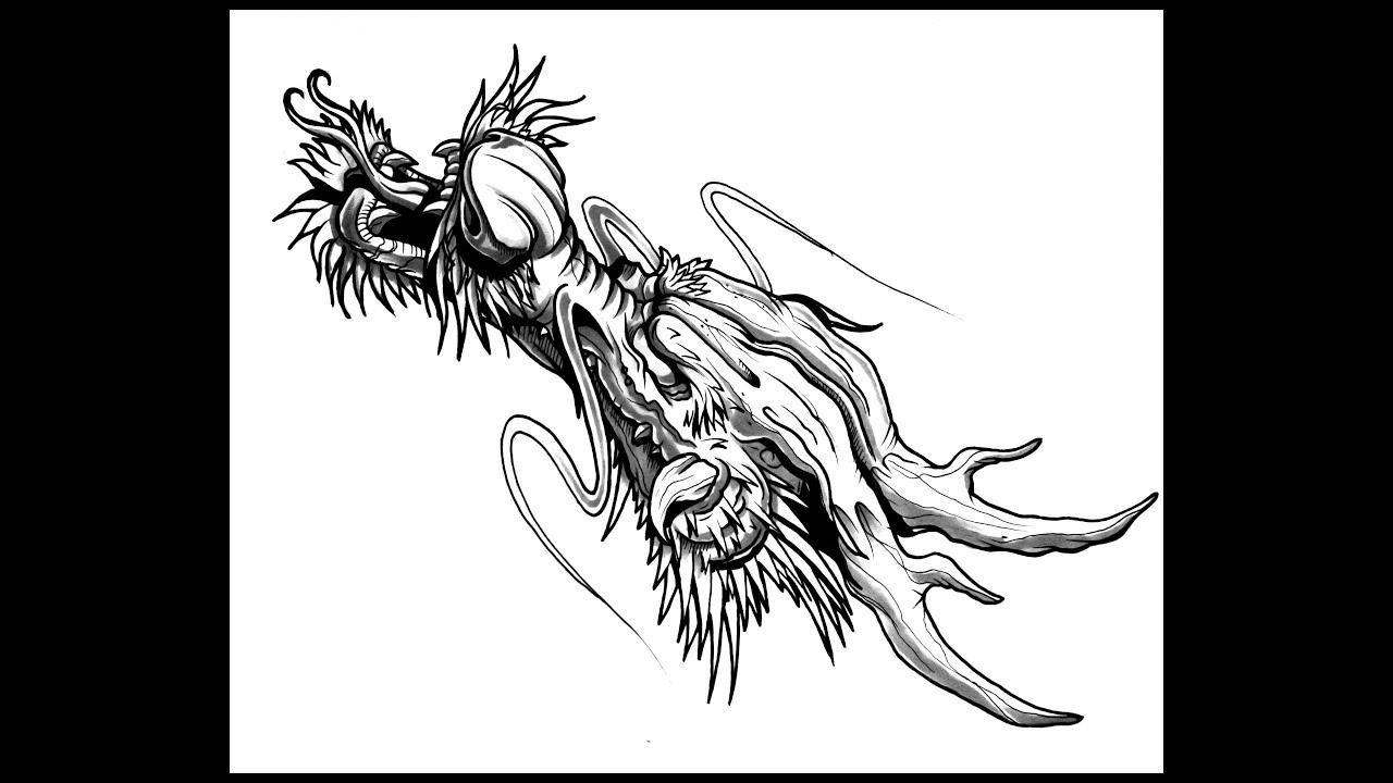 Draw Dragon Head Thebrokenpuppet
