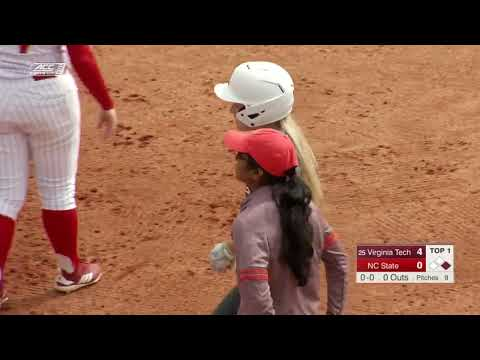 NCAA Softball 2019 : #25 Virginia Tech Vs  NC State Mar 16