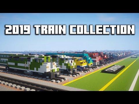My Entire Minecraft Train Collection 2019
