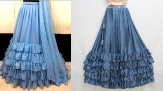 Frill Lehenga or Ruffle Lehenga   Skirt with Frill   फ्रिल स्कर्ट   Krishna Creation