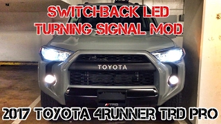 (Part9) 2017 4Runner TRD PRO Cement. SWITCHBACK Turning Signal Light MOD. Cool White & Amber Lights.