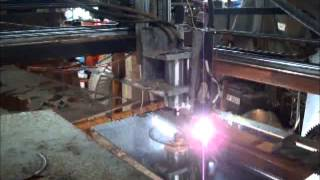 Home Built Cnc Plasma Cutter / Router 2x2 M Table Cutting 4mm Stainless Steel