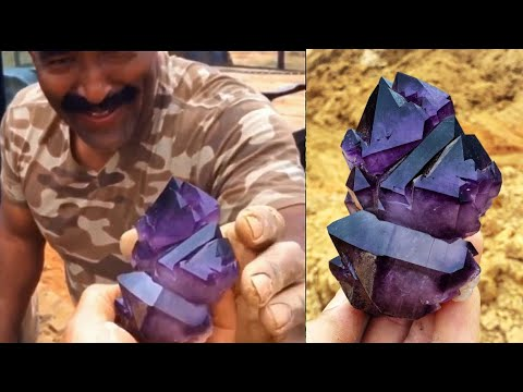Digging For Top Quality World Class Amethyst Quartz Crystals In South Carolina