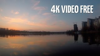💠 4k видео речка, поезд, закат/ 4k River, Train, Sunset FREE background video footage. Timelapse