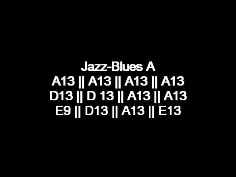 Jazz Blues music backing and jam track in the Key of A