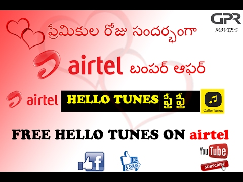 how to get free  hello tune in airtel