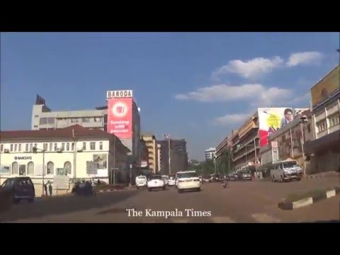 Driving through Kampala City - Kampala Road