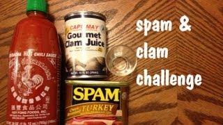 Can Of Spam, Clam Juice Shots & Sriracha Challenge Response (vs. Matt Stonie & Wreckless Eating)