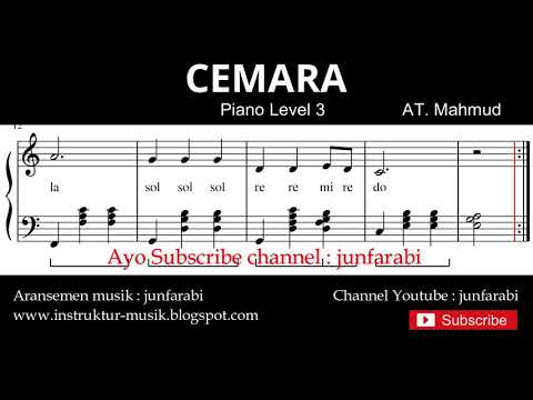 Notasi Balok Cemara - Tutorial Piano Level 3 - Not Lagu Anak Indonesia - Instrumentalia