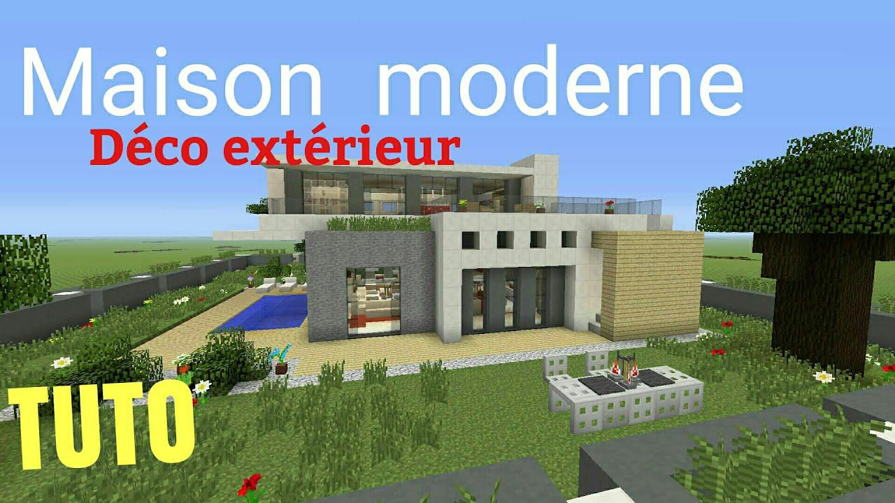 Tuto Minecraft Maison Moderne 3 Deco Exterieur Ps4 Ps3 Xbox360 Xboxone Youtube