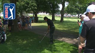 How Phil Mickelson hits through a narrow opening