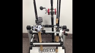 """rack 'em Up"" Fishing Rod Holder Portable Aluminum Fishing Rod Rack"