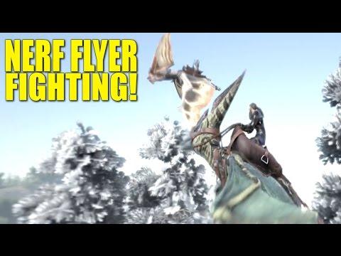 Nerf Flyer fight! (pvp tribe life) - Ark: Survival Evolved - Ep.13