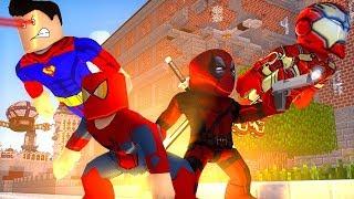 DEADPOOL VS SPIDER-MAN   ROBLOX SUPERHERO TYCOON