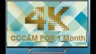 CCCAM  4K For 1 Month || FREE