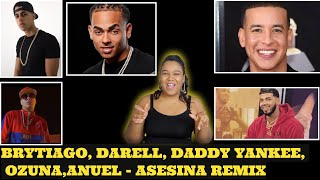 Asesina Remix - Brytiago / Darell / Daddy Yankee / Ozuna / Anuel AA reaccion