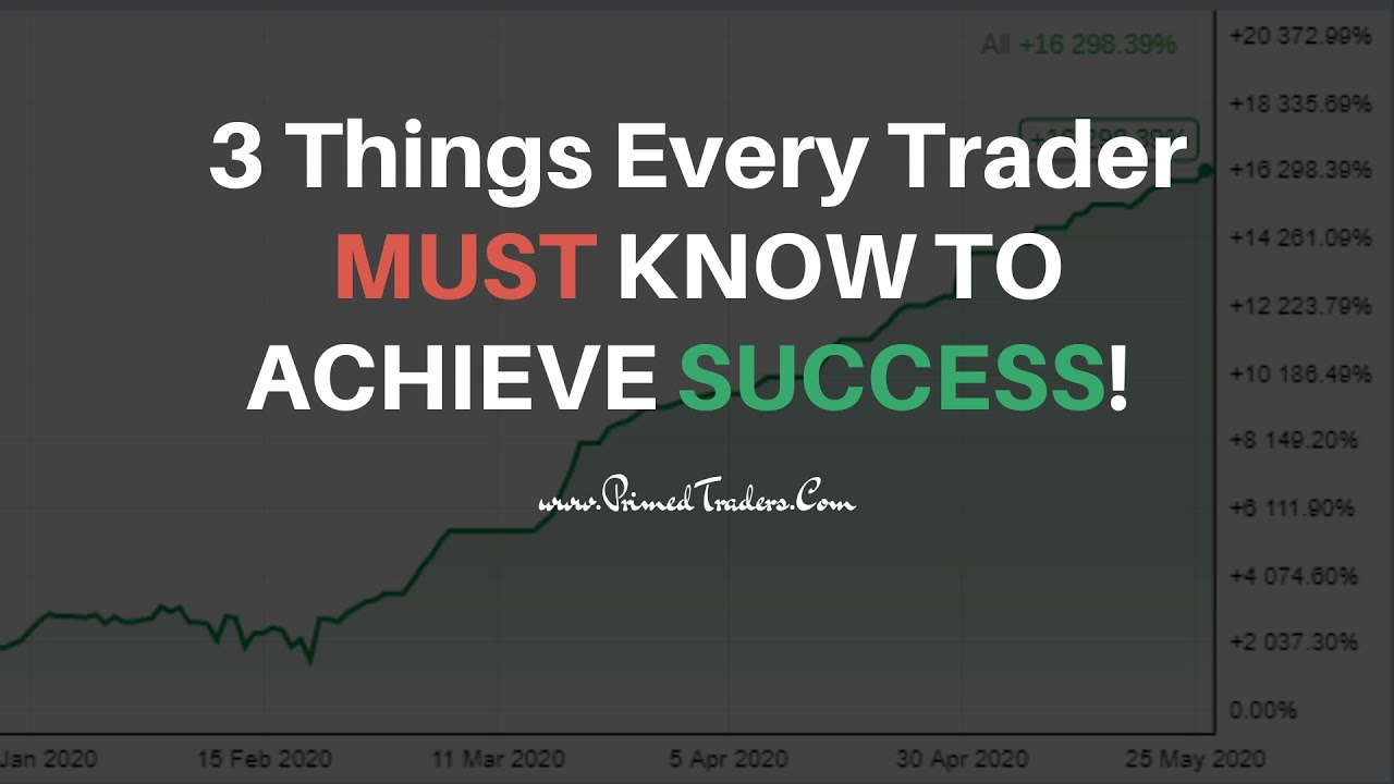 The 3 Things Every Trader Needs to Achieve Success in Trading!