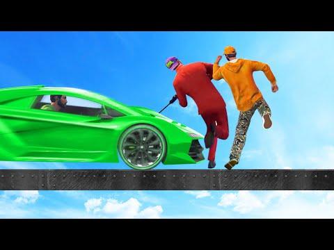 DODGE THE 150MPH SUPER CAR! (GTA 5 Funny Moments)