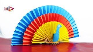 Most Beautiful Paper Peacock | DIY Easter Origami Peacock Bird | Paper 3D Colorful Peacock Tutorial