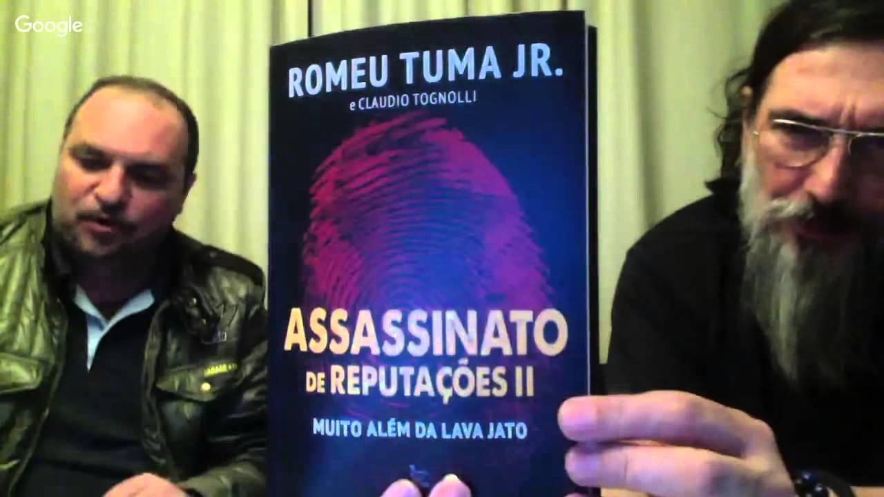 Dia 25/03, sexta-feira, 22 horas tem LOBÃO, TUMA e TOGNOLLI: ASSASSINATO DE REPUTAÇÕES 2