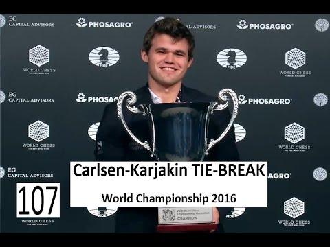 Carlsen-Karjakin TIE-BREAK World Championship 2016