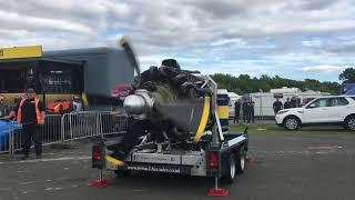 Bristol Hercules and Rolls Royce Merlin Plane Engines Start up at Santa Pod Raceway