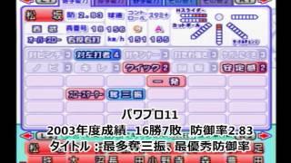 日本時代の松坂大輔選手のデータと各年度の成績です。 最初の頃はコント...